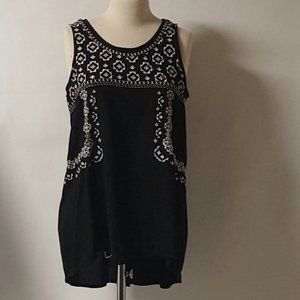 Faded Glory Sleeveless Embroidered Top